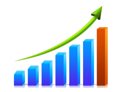 Increase graph png. Download business growth chart
