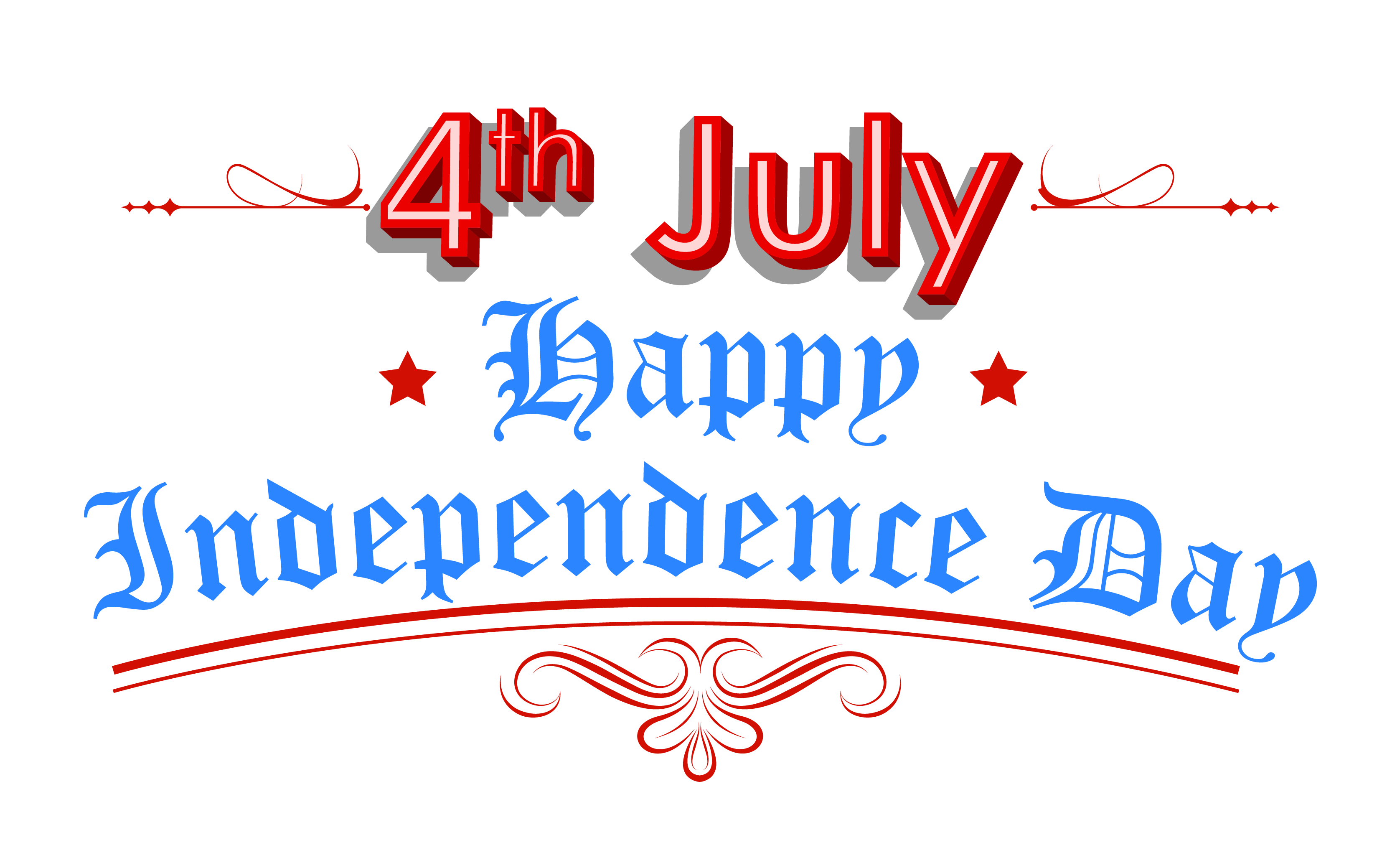 Happy day th july. Independence clipart vector free library