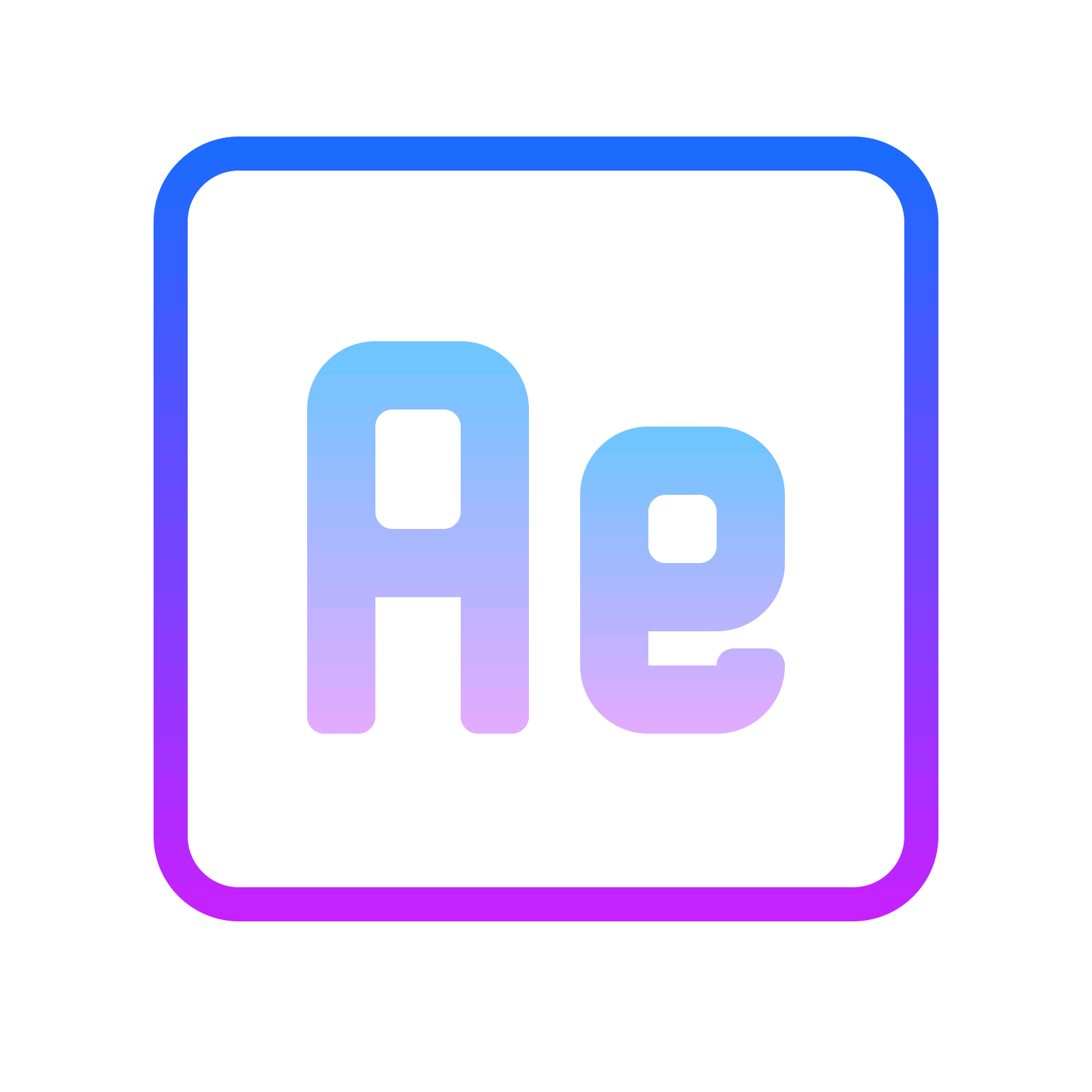 Vector effect line. Adobe after effects icon