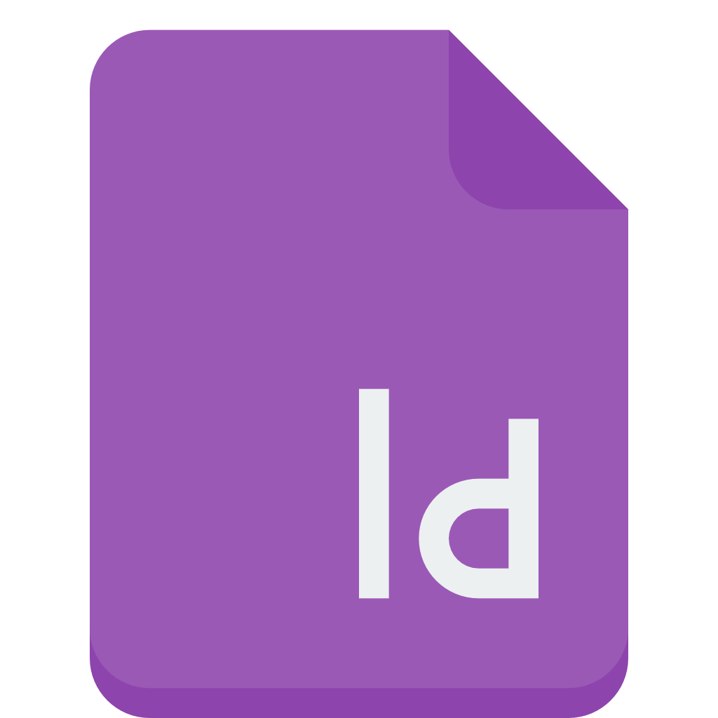 Indesign vector file. Icon small flat iconset