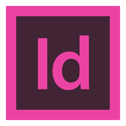 Indesign vector icon. Adobe simply styled iconset