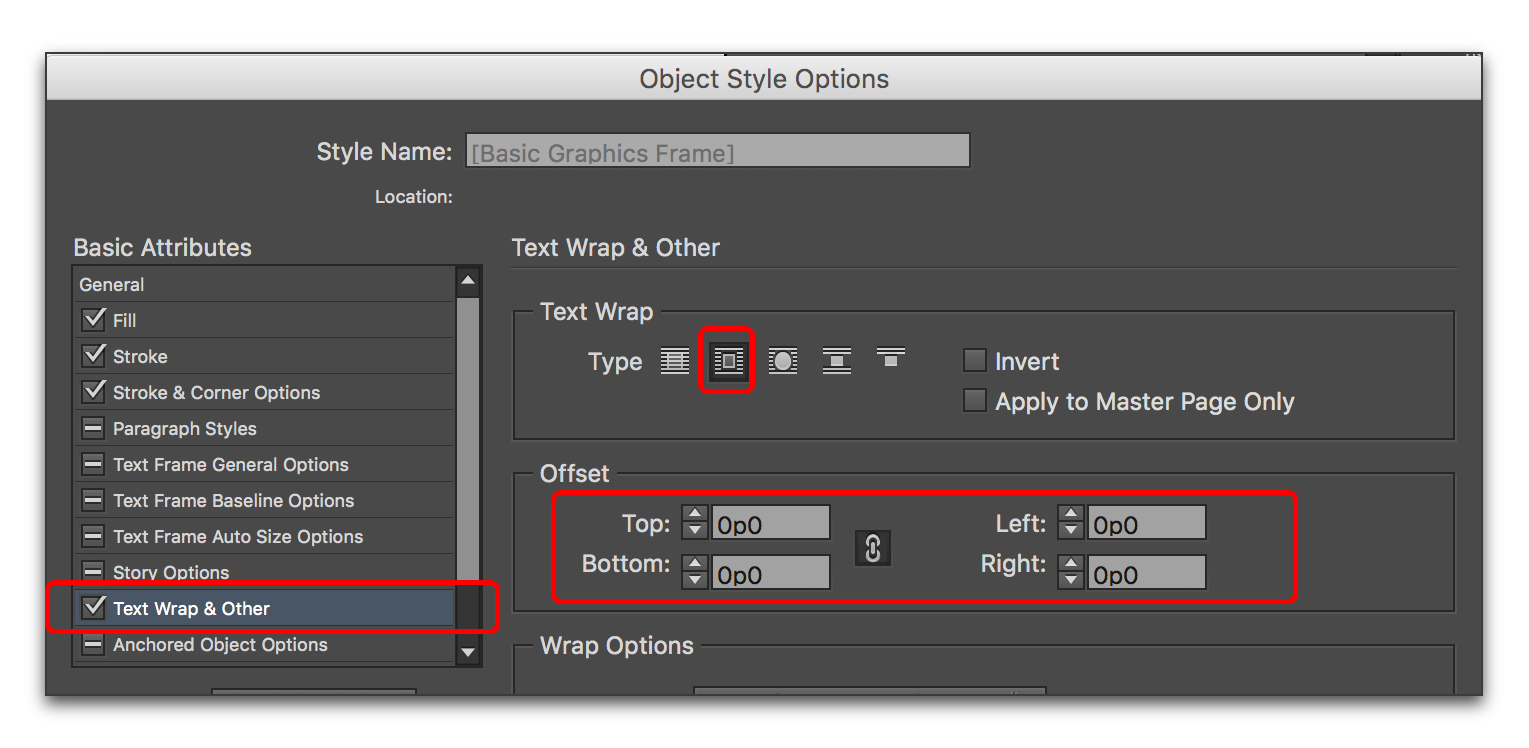 Indesign wrap text around png. Adobe removing offsets from