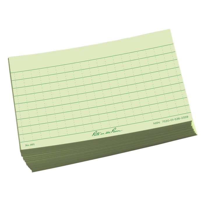 Index card png. Rite in the rain