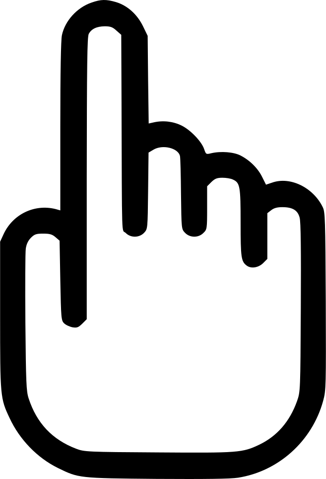 Index finger png. Touch screen hand svg