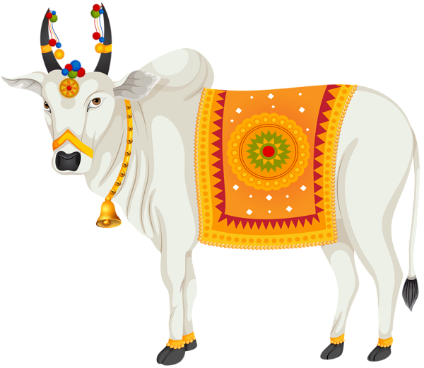 India transparent. Holy cow clip art