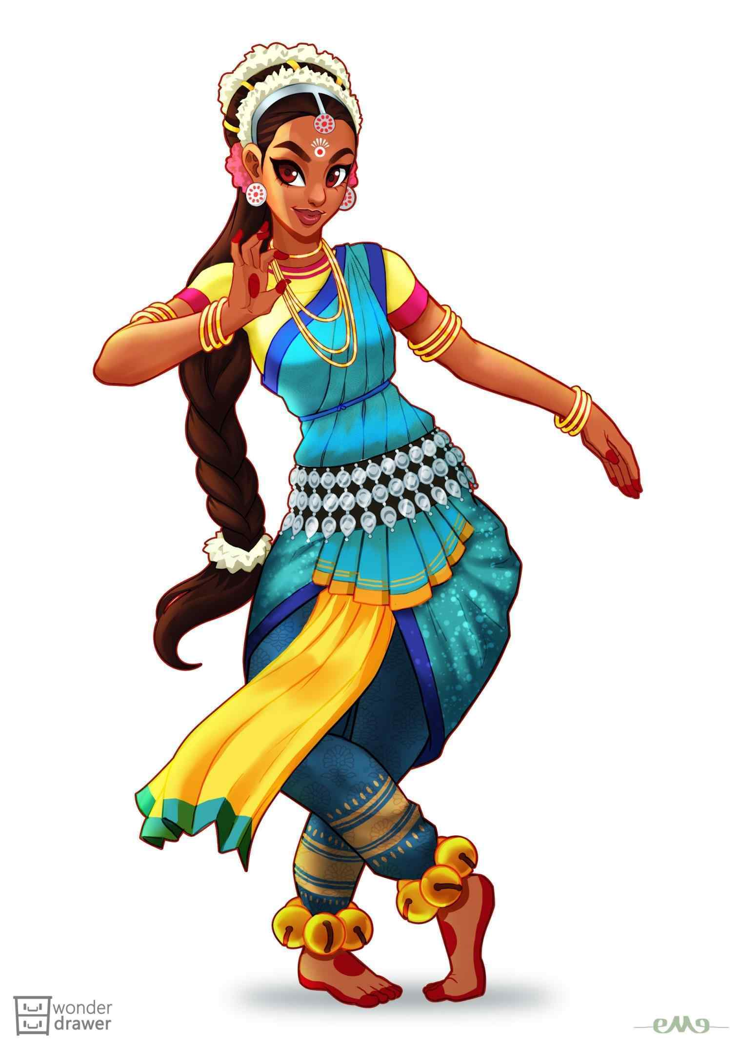 India clipart dancer. Indian dance at getdrawings