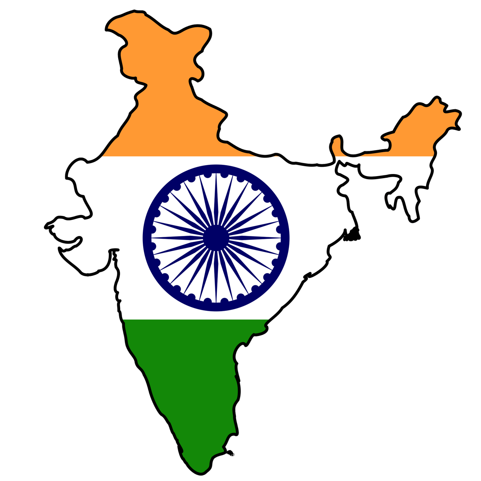 india clipart map bharat