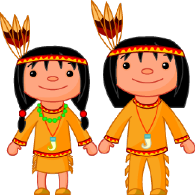 India clipart boy. Native american couple fall