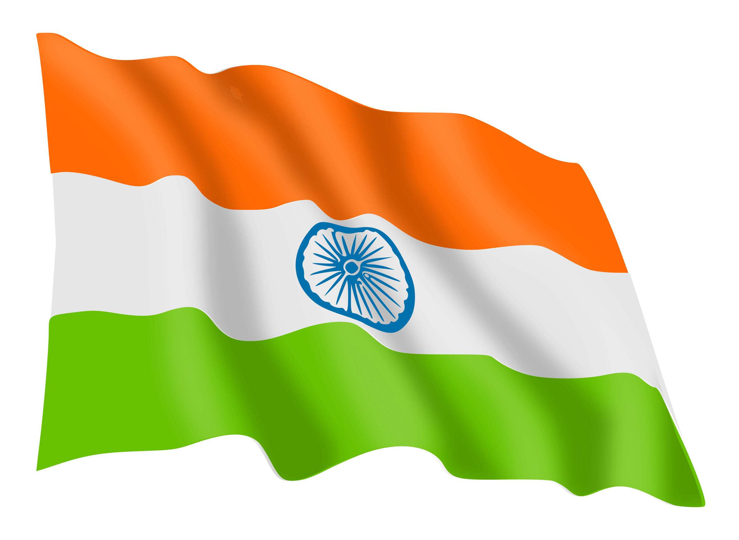 India flag png. Wave transparent stickpng objects