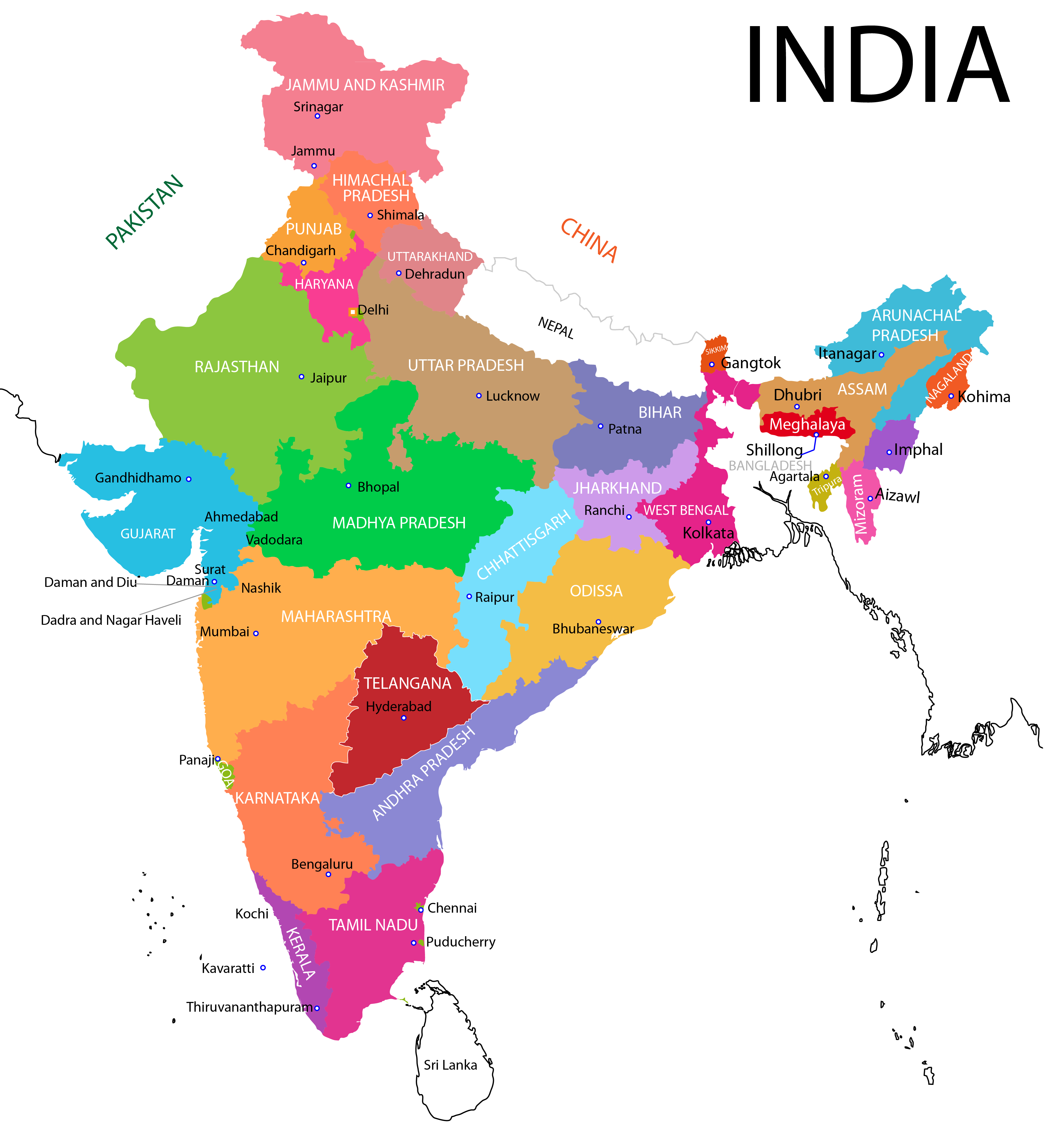 India transparent map. Png images free download