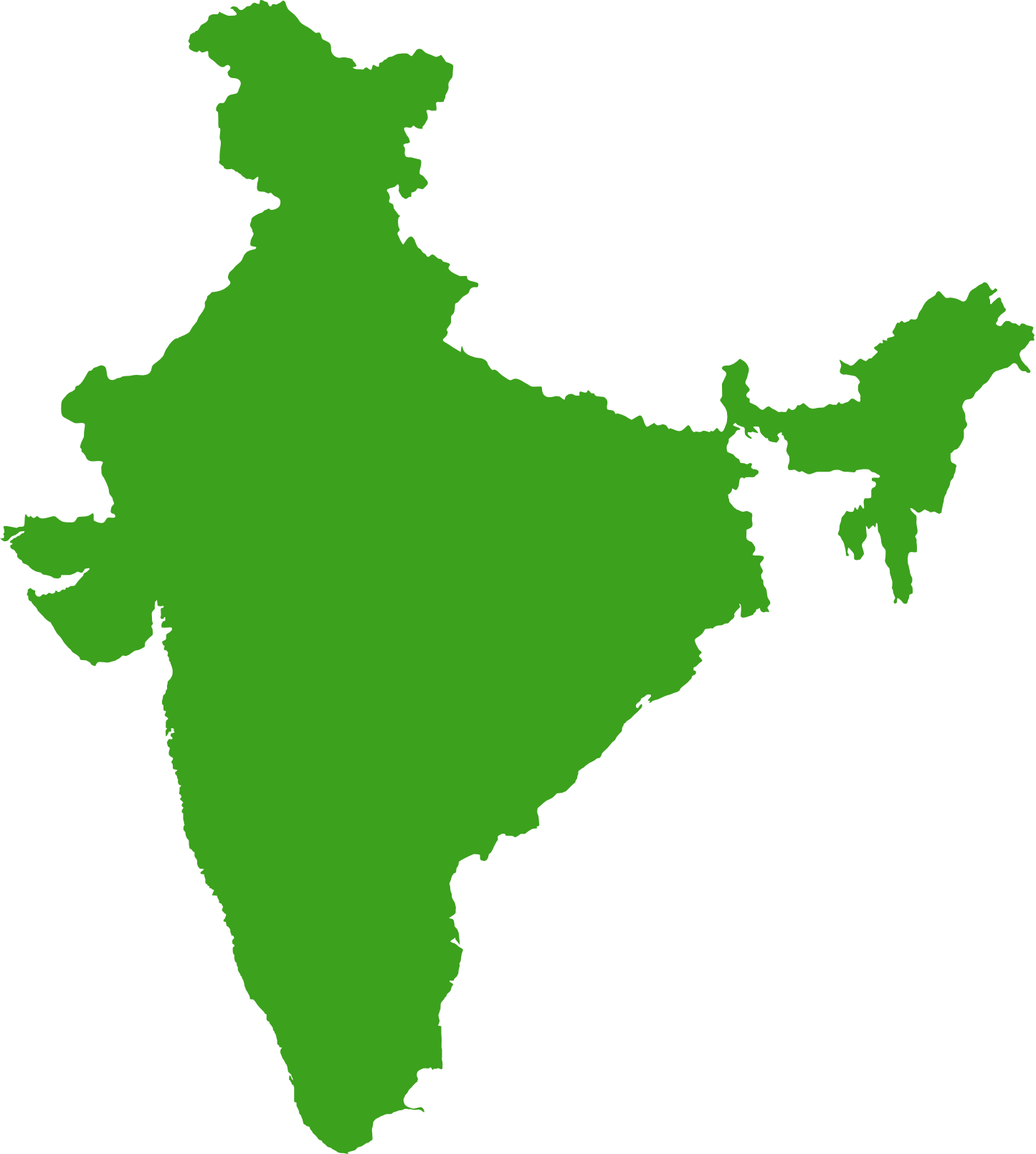 india transparent map