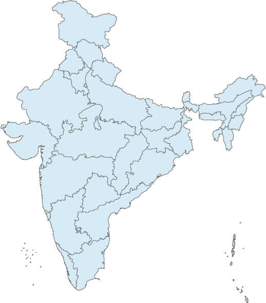 India transparent map. Glance mea at