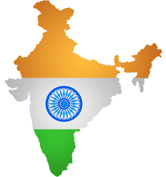 India map png. Flag clip art image