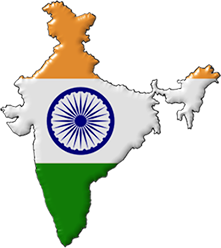 India transparent button