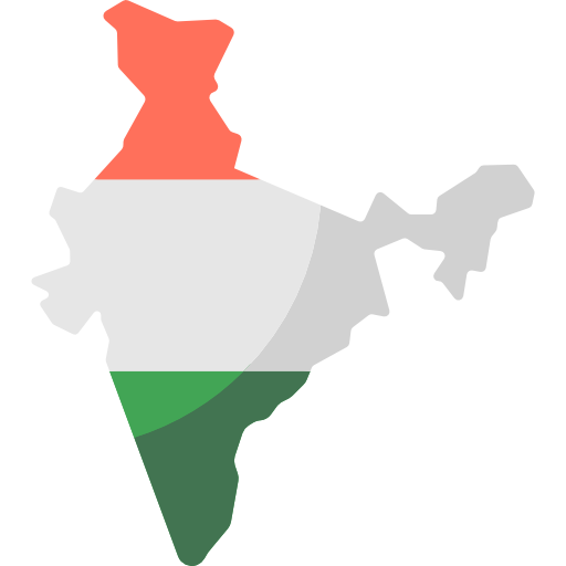 India transparent map. Maps and location icon