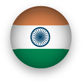 India transparent round. Free animated flags indian