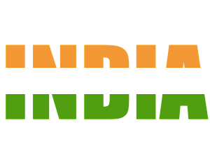 India transparent text. Flag by jberg inktale