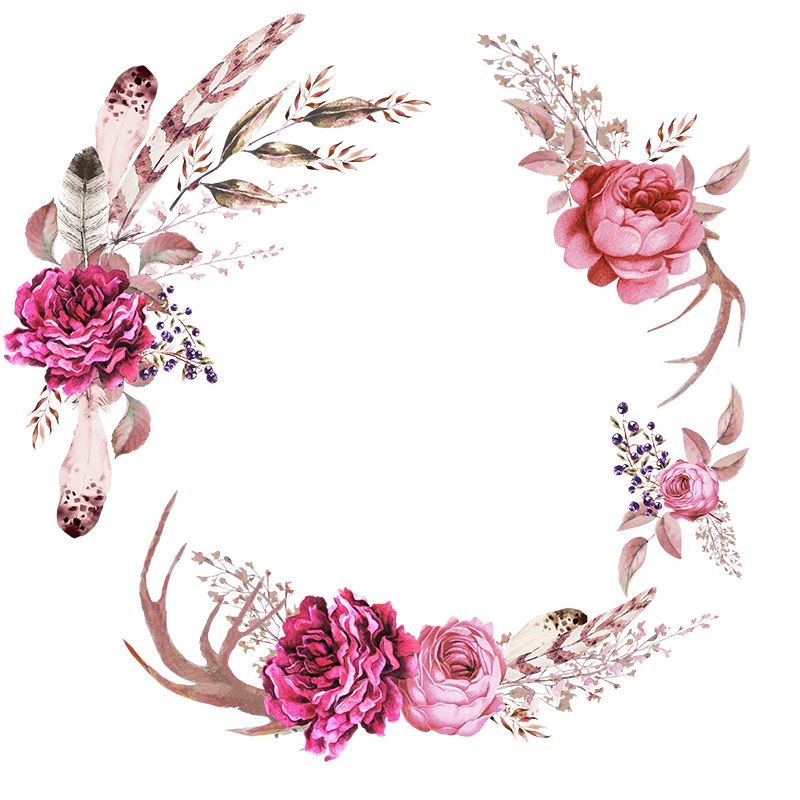 Floral frames png. Flower wedding blanket clip