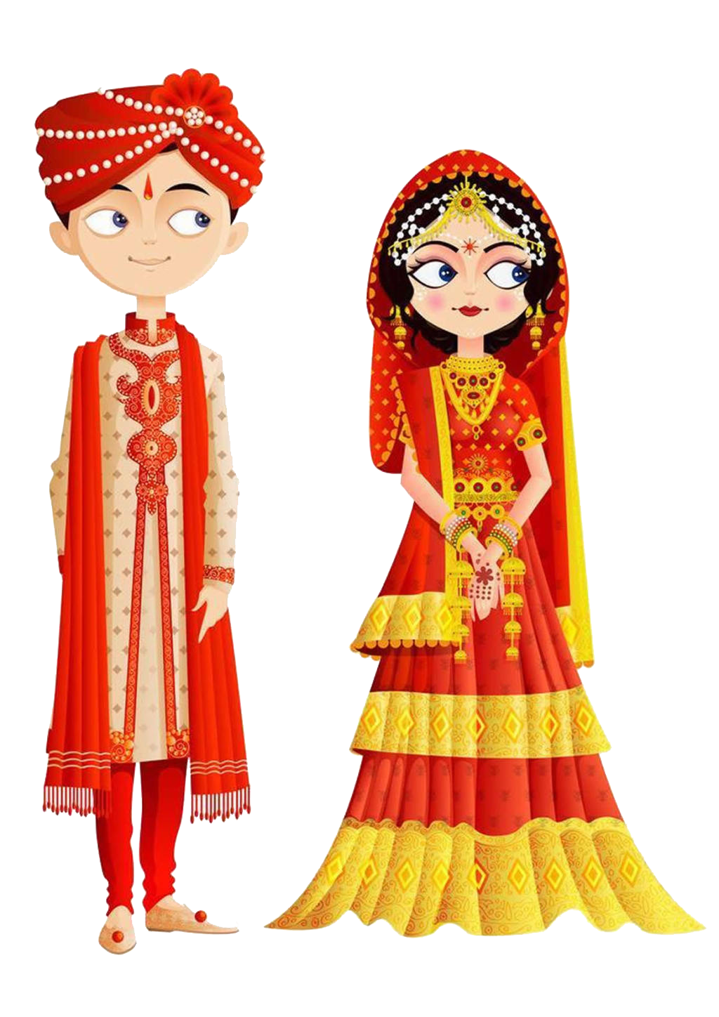 Indian wedding clipart png. India invitation bride clip