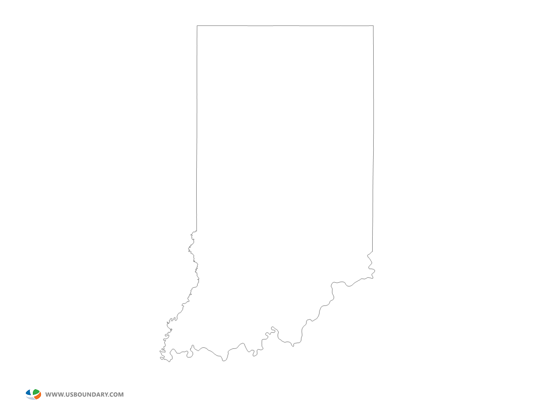 Indiana outline png. State maps download map