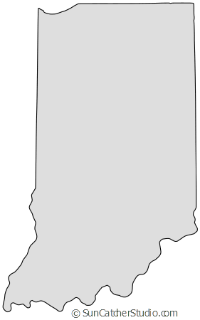 Indiana outline png. Map printable state shape