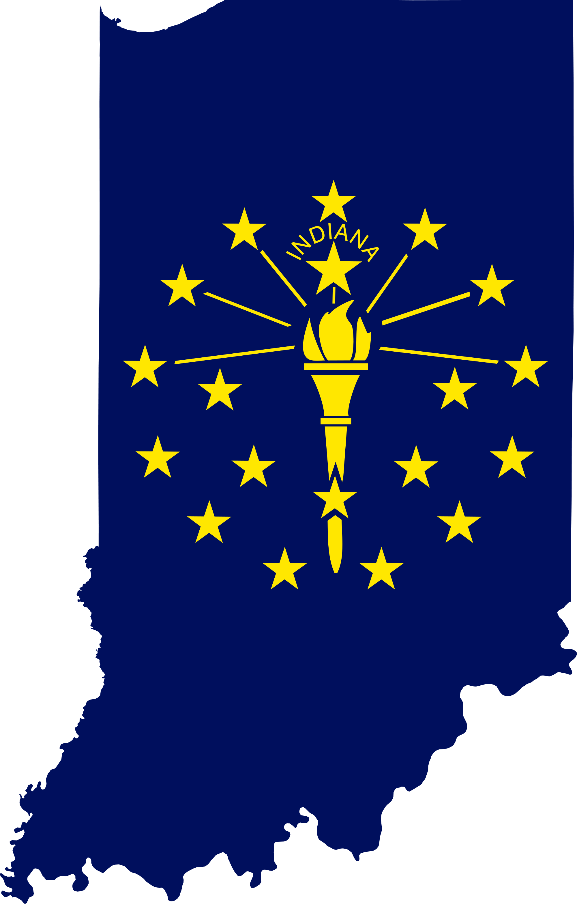Indiana outline png. File flag map of
