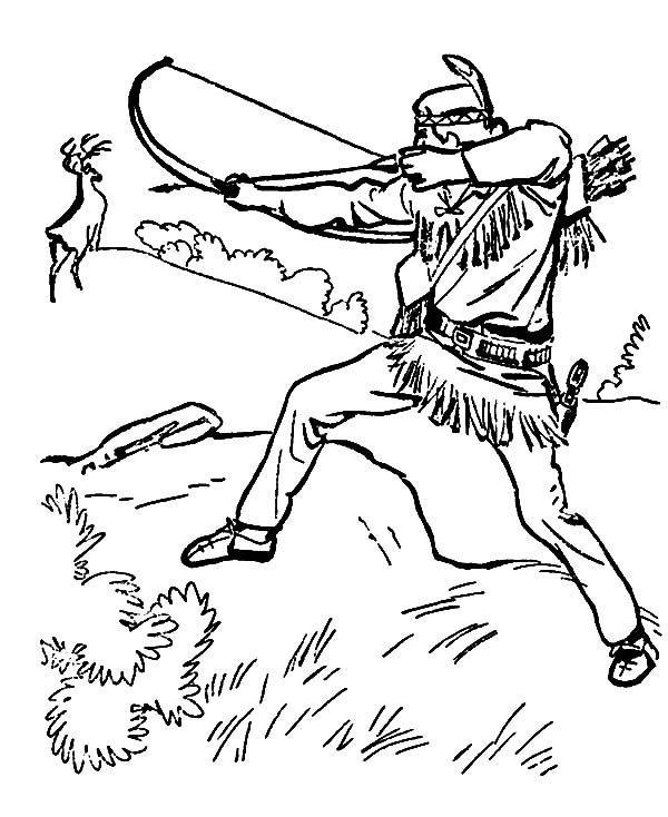 Indians clipart hunting indian. Arrow drawing at getdrawings