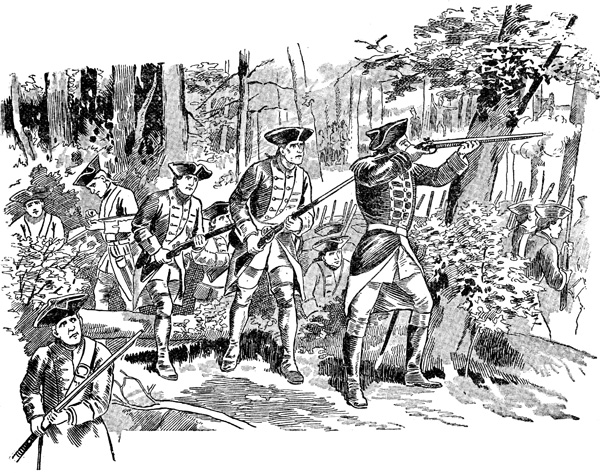 Native american clipart french and indian war. First shot in