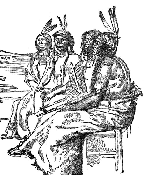 Native american clipart line. Indian