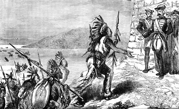 Native american clipart french and indian war.