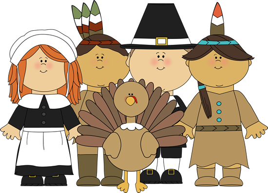 Indians clipart pilgrams. Pilgrims and a turkey
