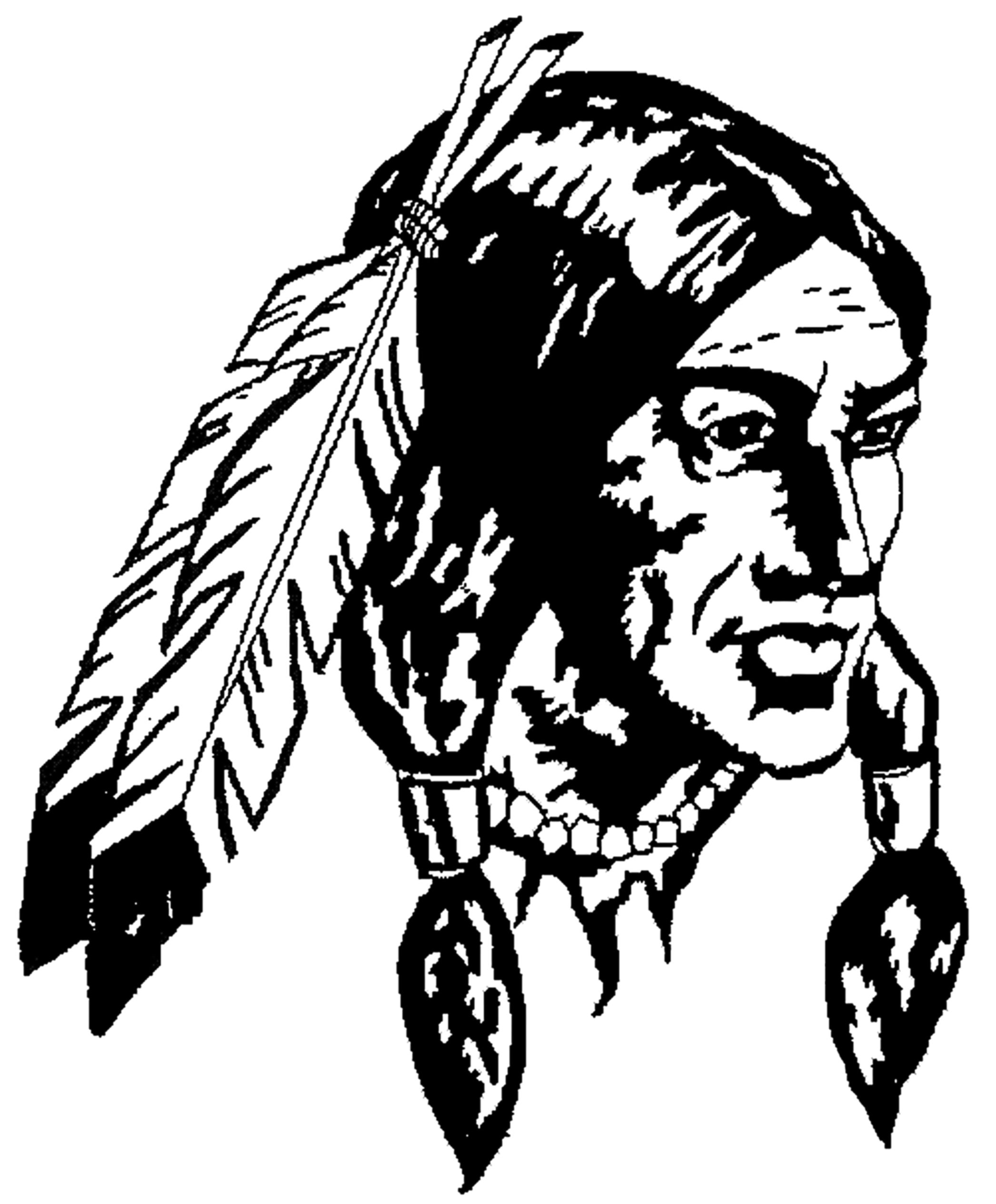 Indians clipart silhouette. Indian warrior at getdrawings