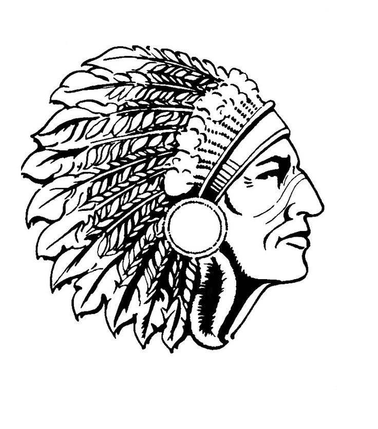 Indians clipart silhouette. Indian headdress at getdrawings