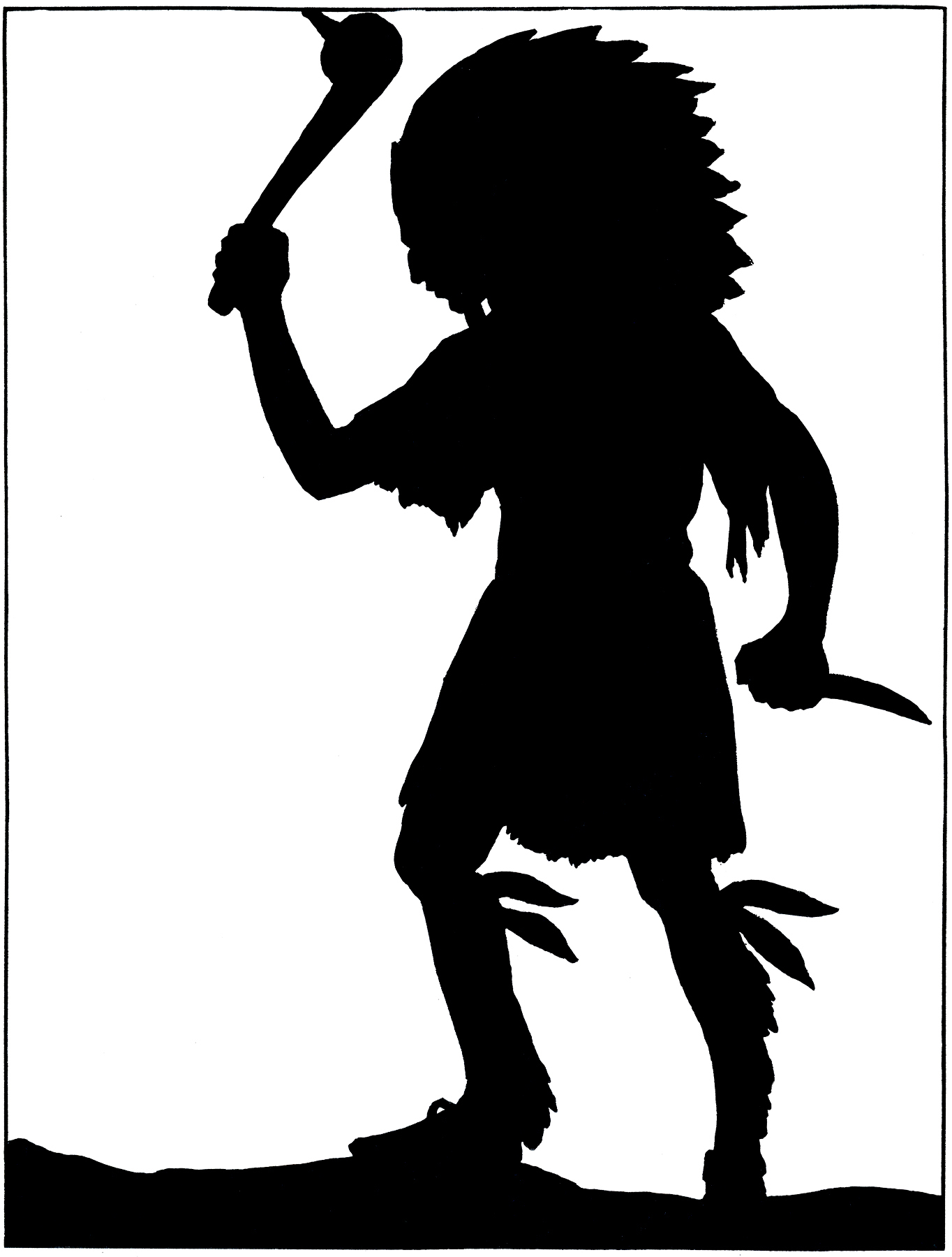 Indians clipart silhouette. American indian at getdrawings