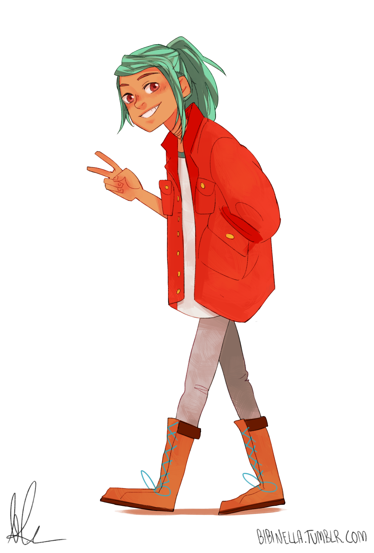 Indie fashion cartoon png. Alex from the game