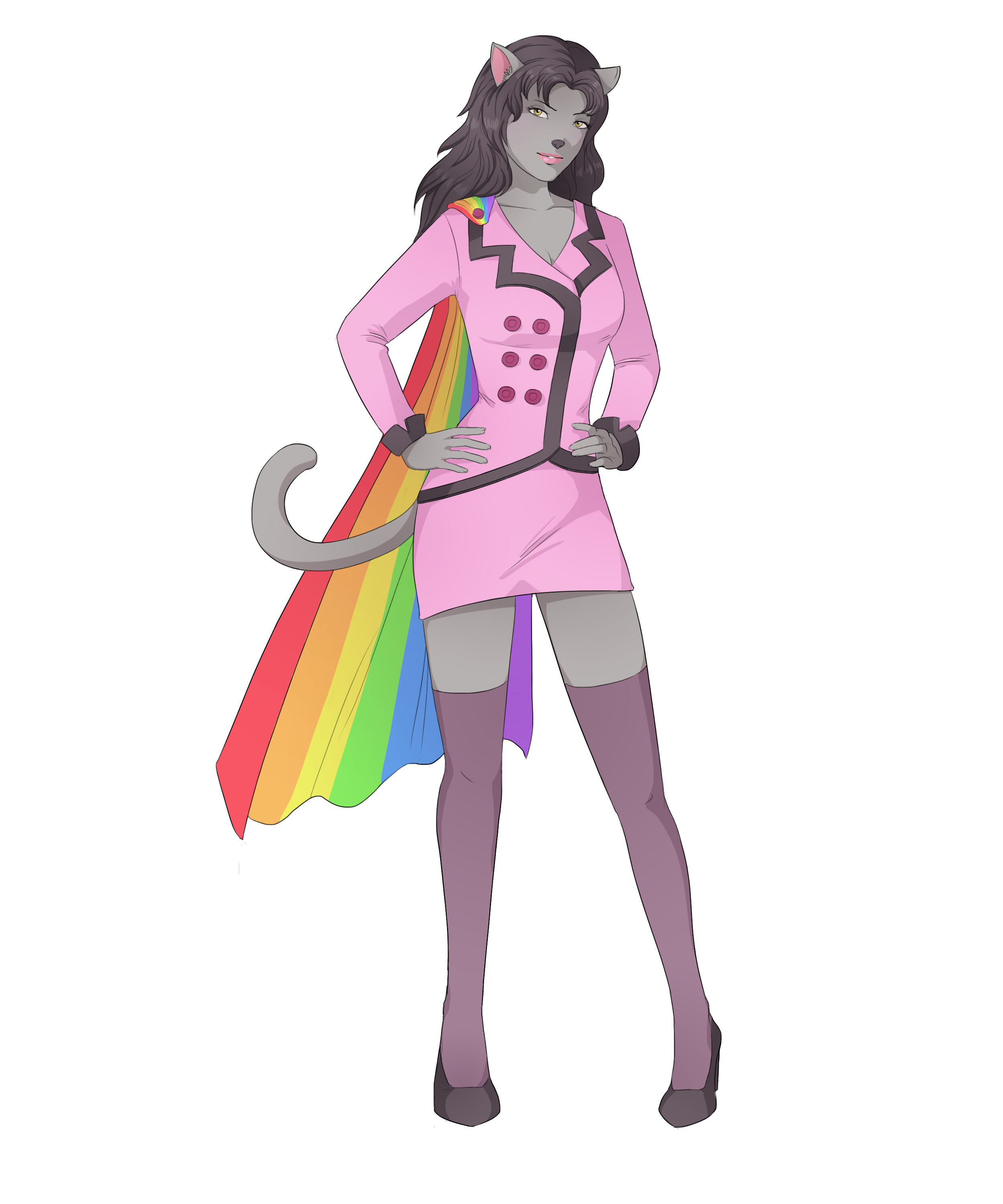 Indie fashion cartoon png. Nyan cat inspired character