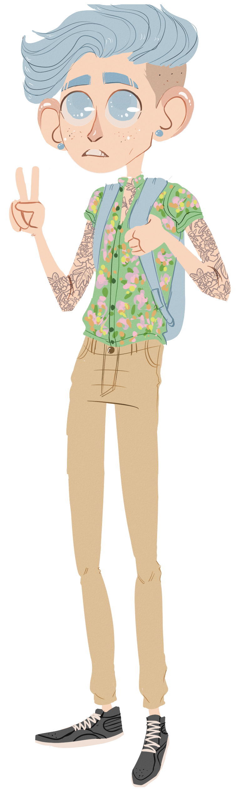 Indie fashion cartoon png. Some loser i picked