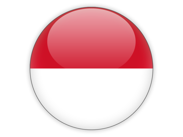Indonesia flag png. Round icon illustration of