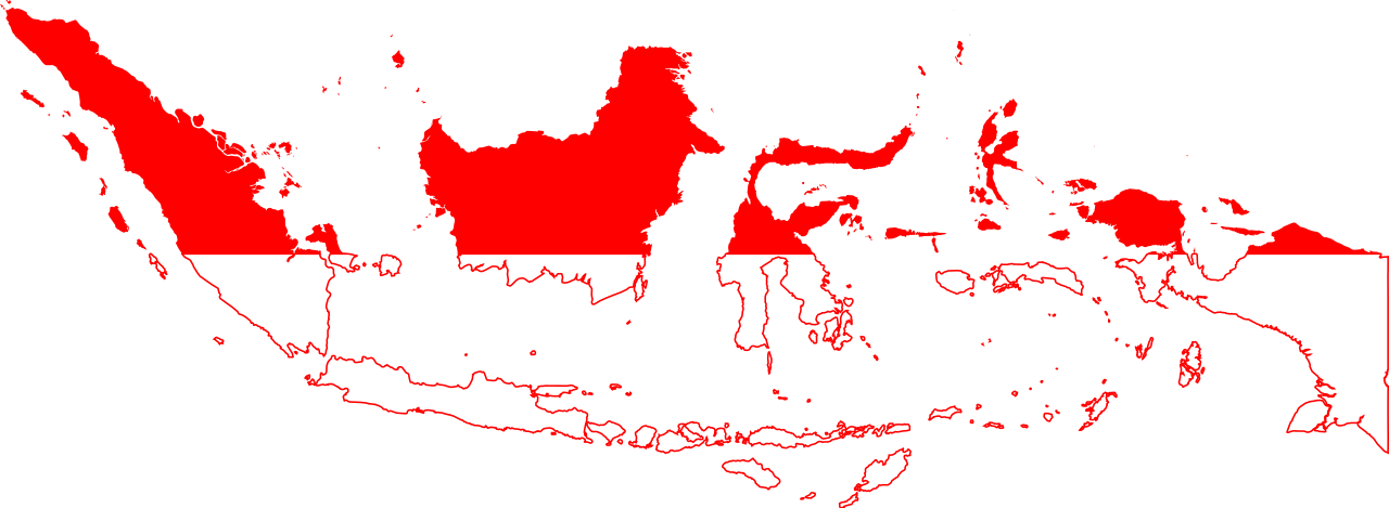 Indonesia vector. File flag map of
