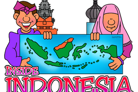 Indonesia vector art. Map png path decorations