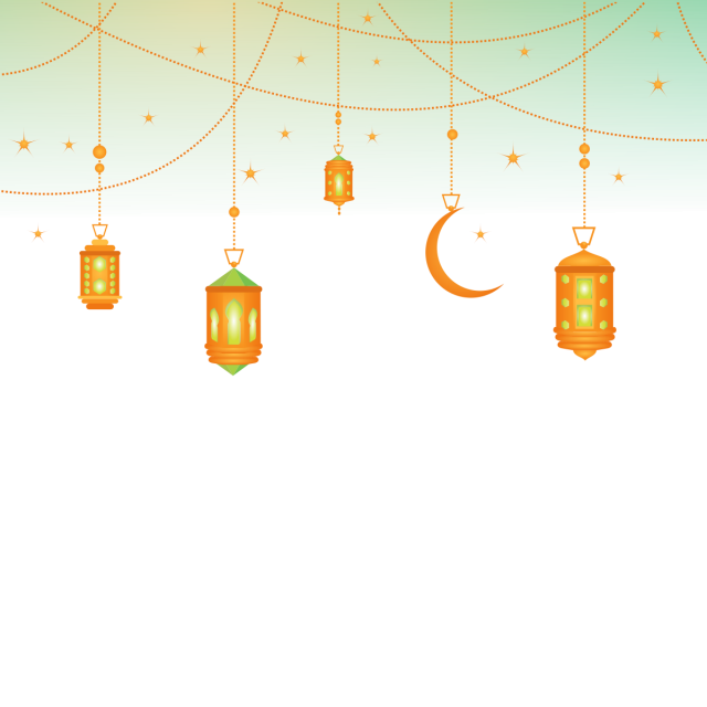 Pho vector raya. Islamic background border chandelier