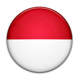 Indonesia vector bendera. Flag of icon world
