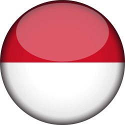 Indonesia vector clipart. Flag country flags free