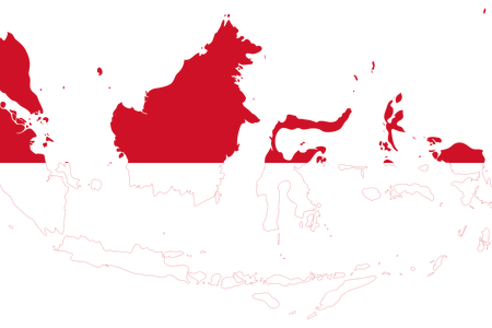 Maps vector abstract. Indonesia map full hd