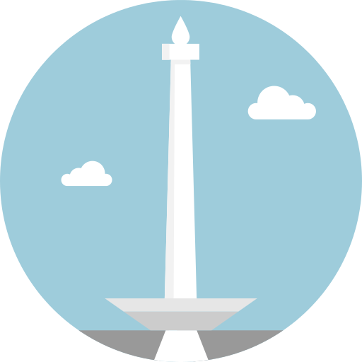 Indonesia vector monument. Png icon repo free