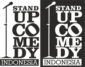 Indonesia vector poster. Stand up comedy logo