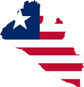 Indonesia vector veteran. Flag map of liberia