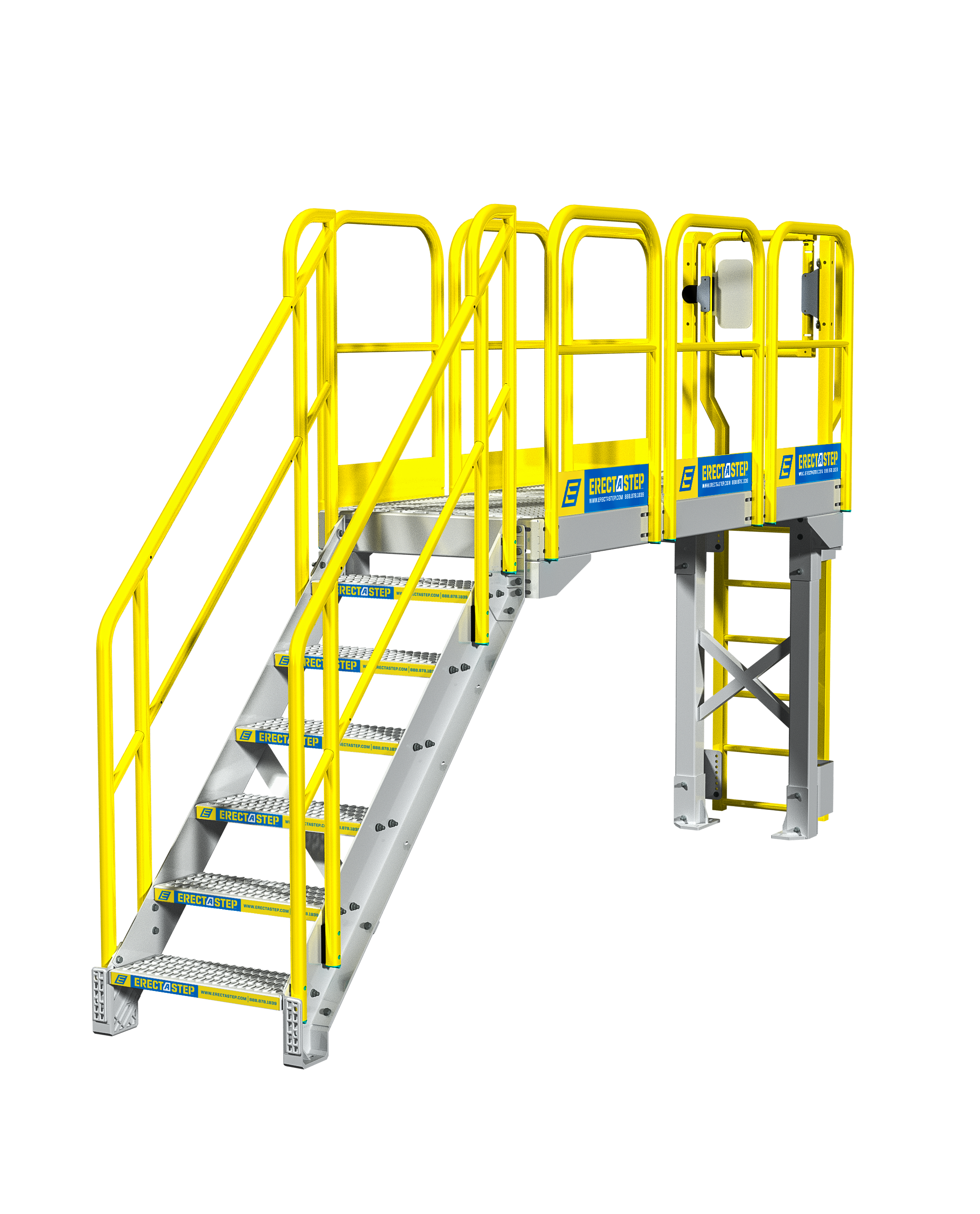 Industrial stairs png. Catwalk stair configuration erectastep
