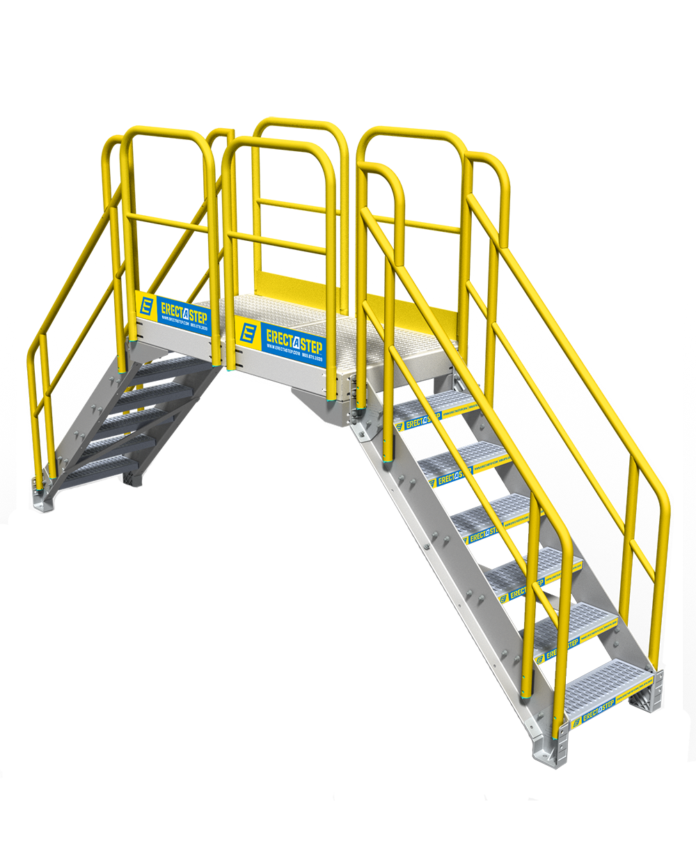 Industrial stairs png. Step crossover erectastep