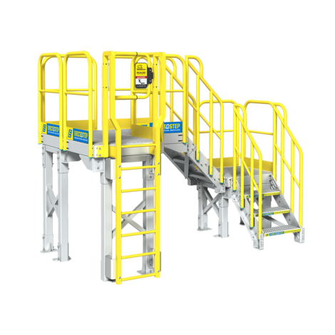Industrial stairs png. Powder coated aluminum metal